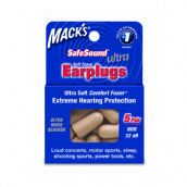 Mack's Ultra 32DB Soft Foam Earplugs - 5 Pair Box